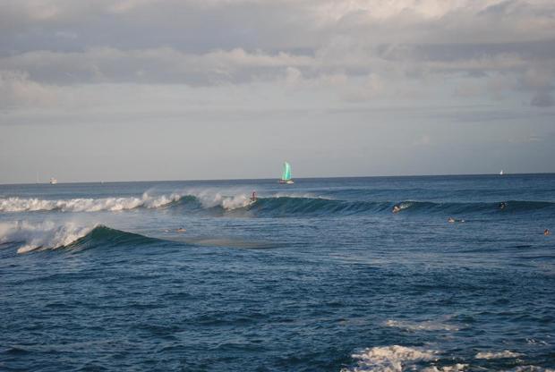 Ocean waves in Hawaii