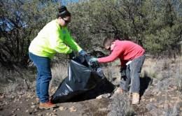 Volunteers removing invasive weeds on Maunakea