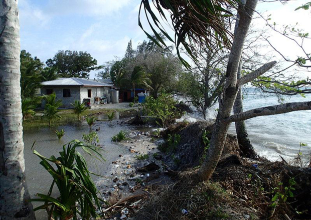 flooding of island home