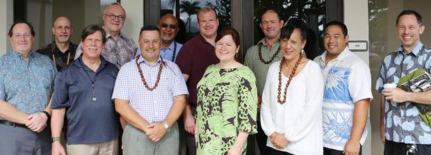 Members of Halau Ola Honua grant project