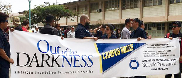 Honolulu CC Marches For Suicide Awareness