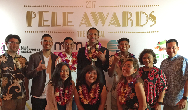 Early college students at the 2017 Pele Awards