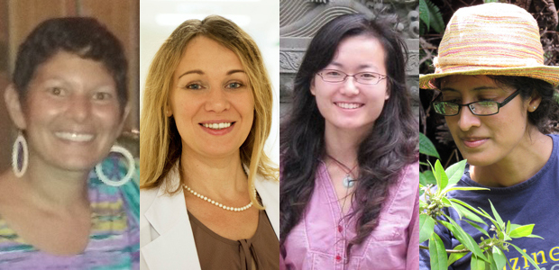 4 women doctoral candidates