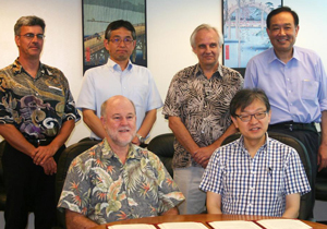 Deans and faculty from UH Manoa and Tohoku University