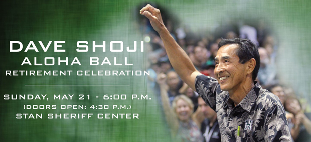 Dave Shoji with celebration information