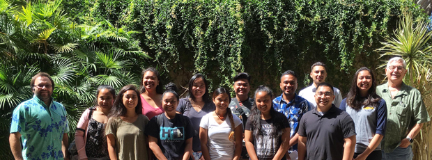 2017 cohort of Environmental Biology for Pacific Islanders program