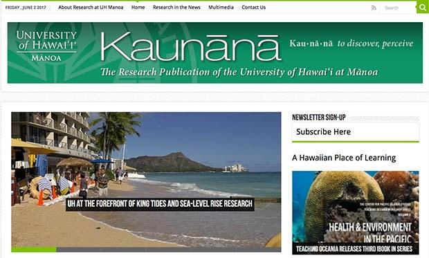 Online Kaunana newsletter front page
