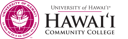 Hawaii Community College seal and nameplate