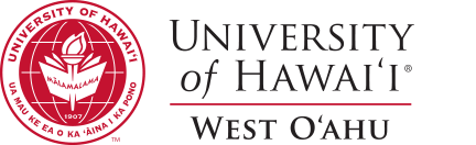 U H West Oahu seal and nameplate