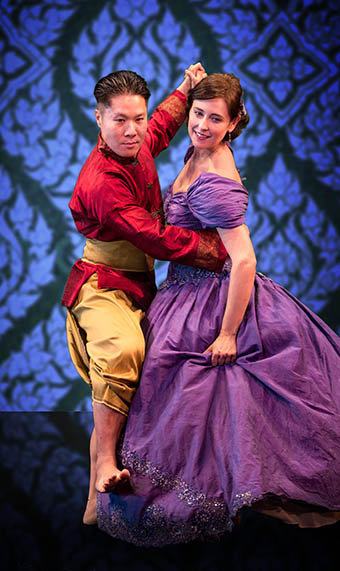 Michael Ng and Kathleen Stuart as the King and Anna
