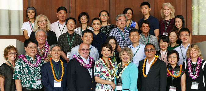 group of smiling participants