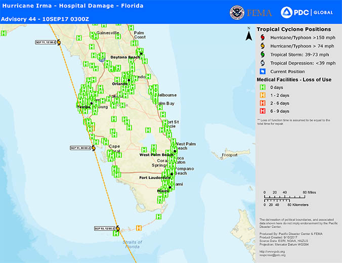 Pacific Disaster Center supports Florida with Hurricane Irma on
