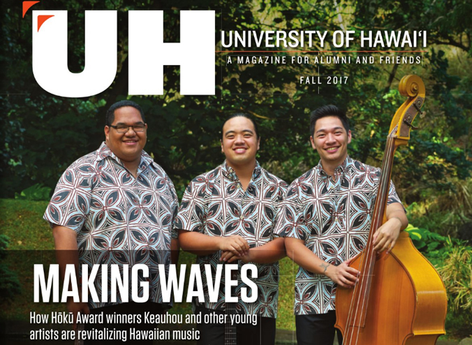 UH Magazine cover featuring Keauhou