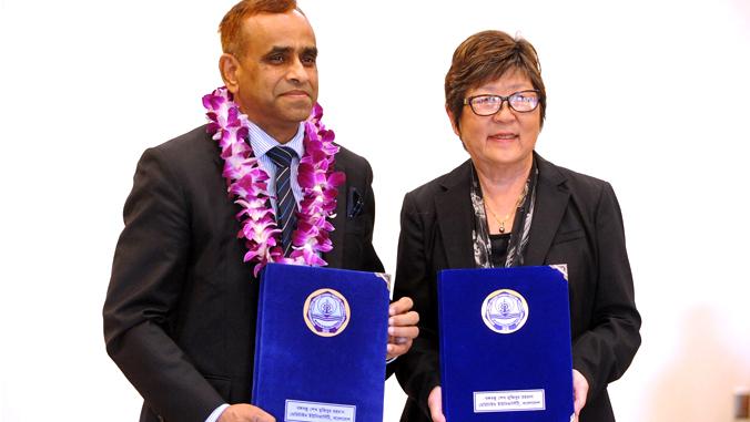 UH Hilo Signs International Maritime Agreement With Bangladesh University