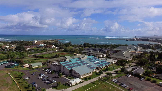 Aerial shot of UH Maui campus