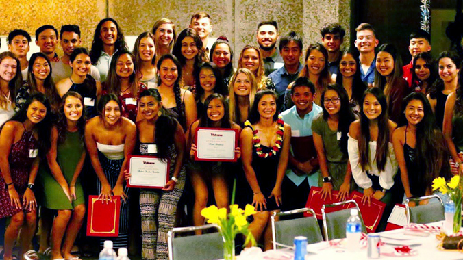 Group photo of student athletes