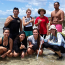 U H interns at Ewa Beach