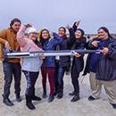 Team Kulia i ka Nu u with a rocket