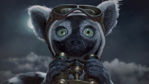 animated lemur on an airship