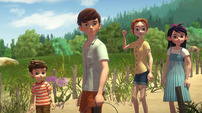 animated Alden children from The Boxcar Children
