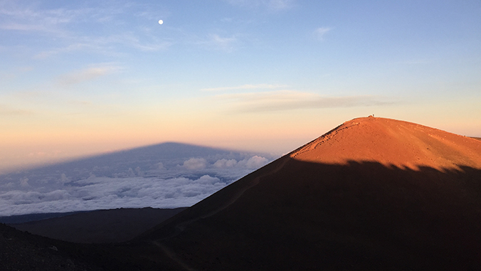 Summit of Maunakea and its shadow