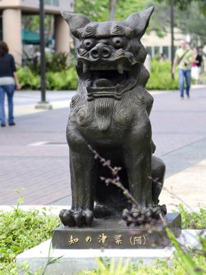 lion dog guardian statue