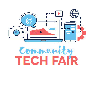 poster for community tech fair