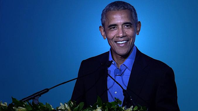 Barack Obama at podium