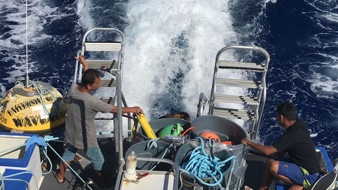 Recovered wave buoy back providing critical data for ocean users