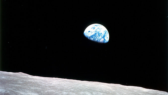 Earth rise as seen from the moon