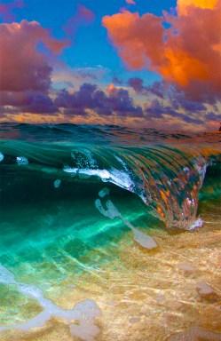 wave on beach