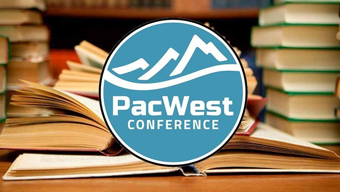 Pacific West Conference logo and books