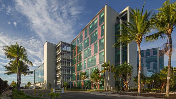 exterior shot of uh cancer center