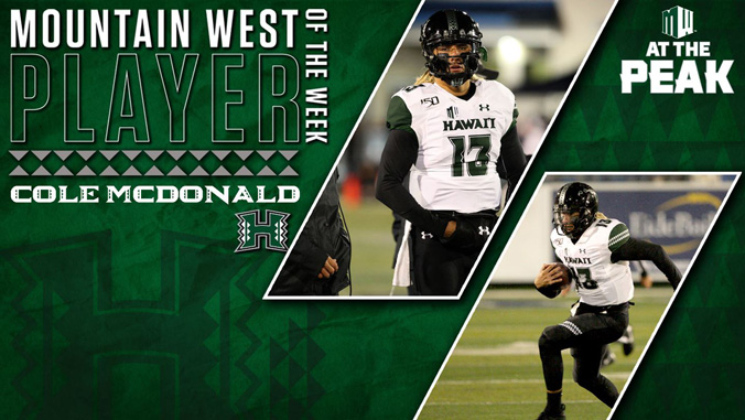 cole mcdonald player of the week banner