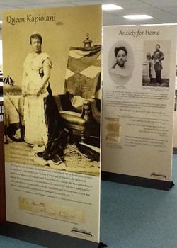 exhibit panel on queen kapiolani