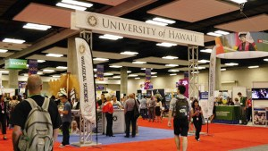University of Hawaii booth at the SACNAS conference