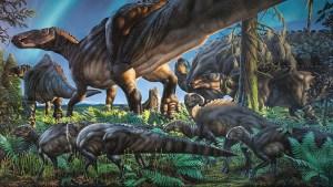 hadrosaur depiction