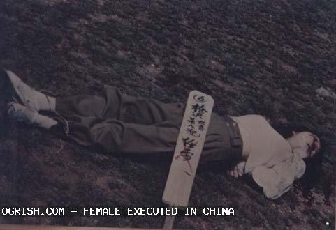 Prisionera china ejecutada