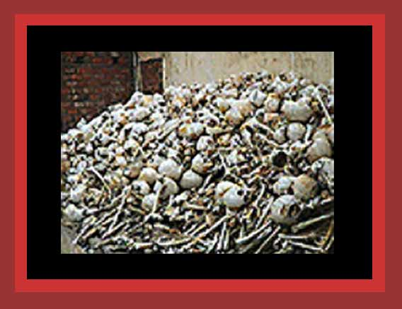 Skulls of the Cambodian murdered