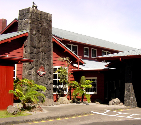 """Perched on the rim of Kilauea caldera, overlooking one of the world's most active volcanoes, Volcano House epitomizes """"location, location, location."""" (Photo courtesy of Hawaii Volcanoes National Park)"""