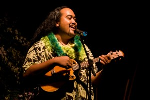 "Devin Kahale Alii Keanaaina performs the mele A Heahe to win the 19th Annual Clyde ""Kindy"" Sproat Falsetto Storytellng Contest at the Waikoloa Beach Marriott Friday (Sept 4)."