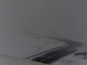 Webcam image on Mauna Kea summit area 4:30 p.m. HST Tuesday, (March 3). Image courtesy of UH-Hilo
