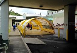 Triage tents in the Kona Community Hospital emergency room ambulance bay. Photo courtesy of KCH