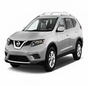Image of a 2017 silver-colored Nissan Rogue
