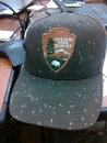 Ranger field cap speckled by volcanic ash, NPS Photo
