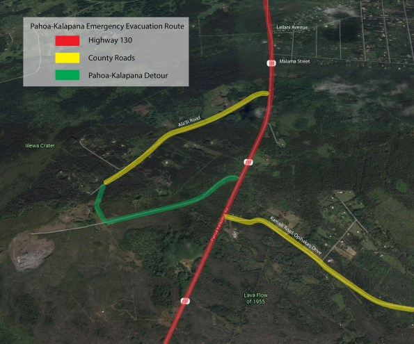 Alternate route for Highway 130