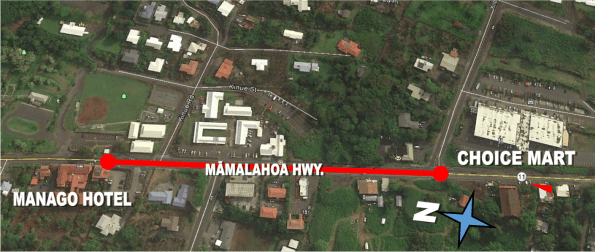Mamalahoa Hwy (Route 11) resurfacing work in Captain Cook November 13-16, 2018