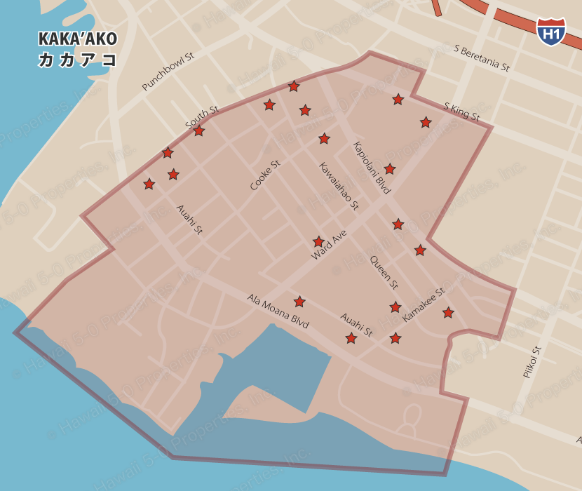 Condo-pedia Kakaako map