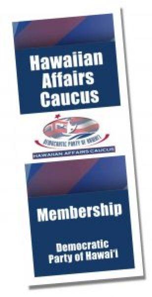 Hawaiian Affairs Caucus membership brochure cover