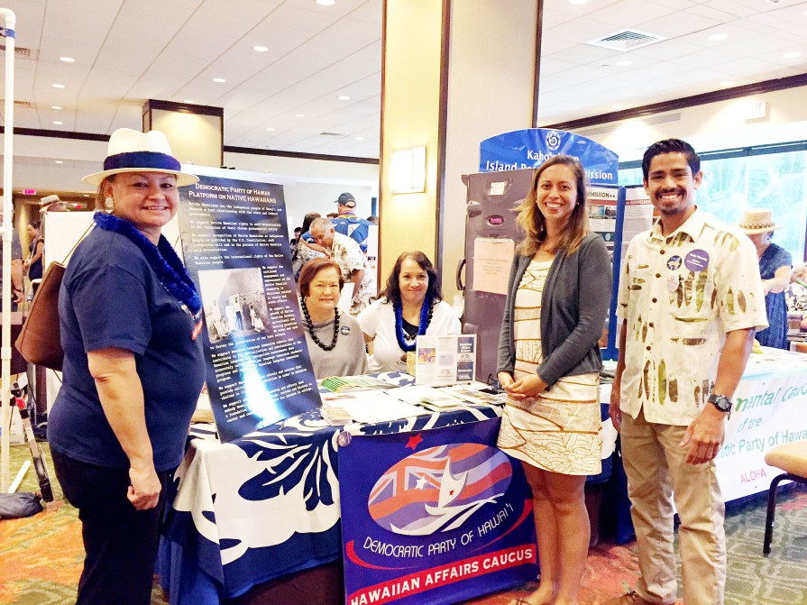 Hawaiian Affairs Caucus table at the 2016 Democratic Party Convention.